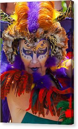 Summer Solstice Parade Santa Barbara 2011. Canvas Print by Eyal Nahmias