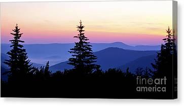 Summer Solstice Sunrise Highland Scenic Highway Canvas Print by Thomas R Fletcher