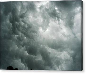 Summer Storm Clouds Canvas Print by Marian Hebert