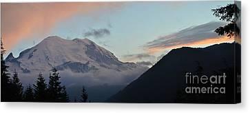 Summer Sunset On Mt. Rainier Canvas Print