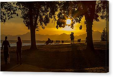 Canvas Print featuring the photograph Summer's Last Sunset by Ken Stanback