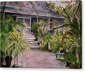 Summer's Patio Canvas Print by Cyndi Brewer