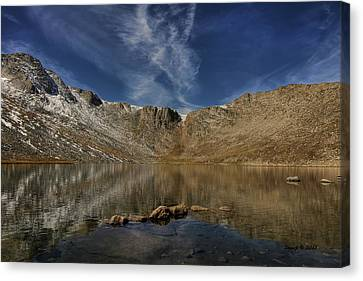 Summit Lake In September Canvas Print by Stephen  Johnson
