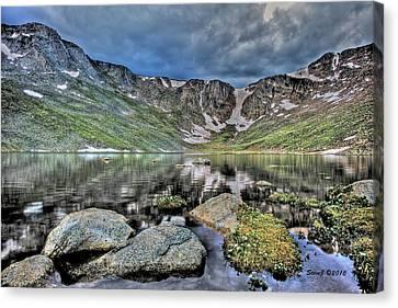 Summit Lake Tundra And Granite Canvas Print by Stephen  Johnson