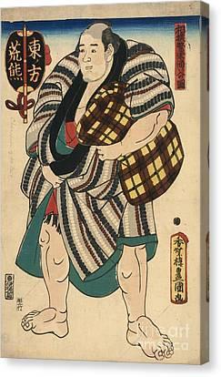 Sumo Wrestler Arakuma Canvas Print by Padre Art