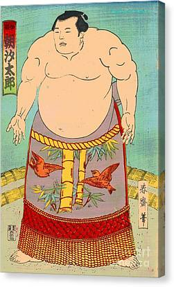 Sumo Wrestler Asashio Taro Canvas Print by Padre Art