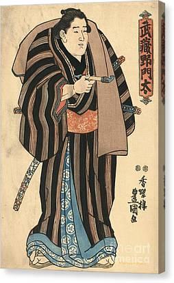 Sumo Wrestler Musashi No Monta Canvas Print by Padre Art