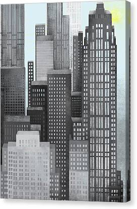Sun And Skyscrapers Canvas Print