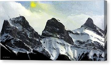 Sun Breaking Through Canvas Print by Wayne Bonney