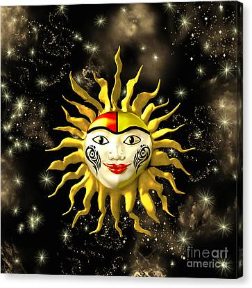 Sun Face  Canvas Print by Methune Hively