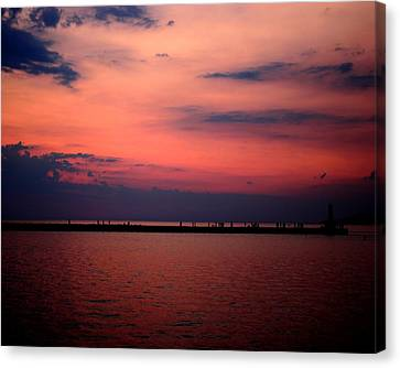 Sun Has Set Canvas Print by Leigh Edwards