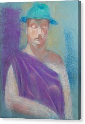 Sun Hat Canvas Print by Joanna Gates