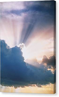 Sun Rays Canvas Print by Erich Schrempp and Photo Researchers