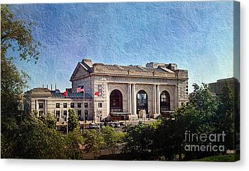 Sun Rising On Union Station In Kansas City Tv Canvas Print by Andee Design
