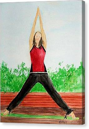 Canvas Print featuring the painting Sun Salutation by Alethea McKee