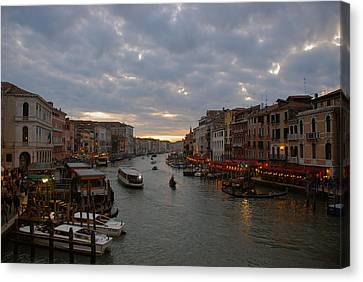 Sun Sets Over Venice Canvas Print by Eric Tressler