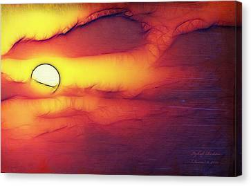 Sun Stand Thou Still Upon Gibeon Canvas Print by Itzhak Richter