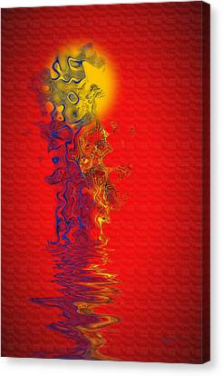 Canvas Print featuring the digital art Sundance by Vicki Pelham