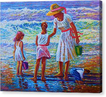 Sunday Afternoon Shore Study Canvas Print by Joseph   Ruff