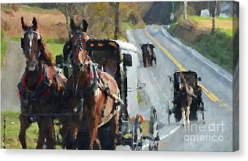 Sunday Ride Canvas Print