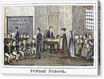 Sunday School, 1832 Canvas Print by Granger