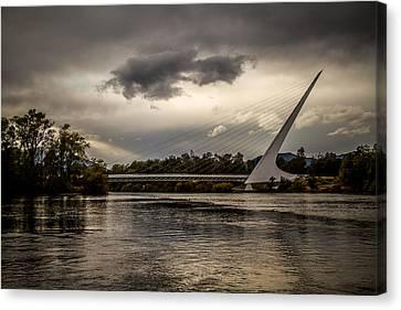 Canvas Print featuring the photograph Sundial Bridge - 1 by Randy Wood