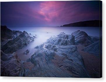 Sundown At Leas Foot Canvas Print by Mark Leader