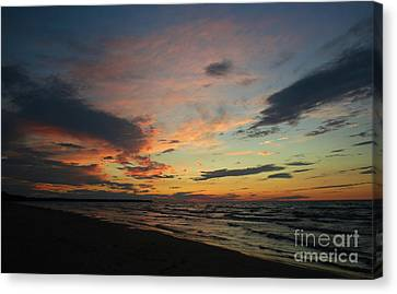 Canvas Print featuring the photograph Sundown  by Barbara McMahon