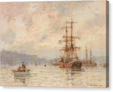 Tuke Canvas Print - Sundown by Henry Scott Tuke