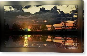 Sundown In The Lake Canvas Print by Bruno Santoro