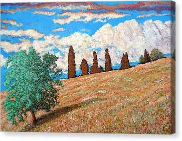 Canvas Print featuring the painting Sundown by Tom Roderick