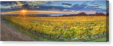 Sunet From Old Mission Canvas Print by Twenty Two North Photography