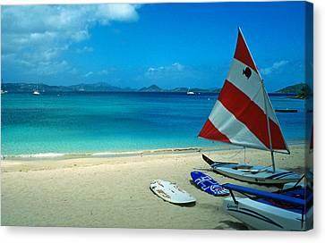 Sunfish On The Beach Canvas Print by Kathy Yates