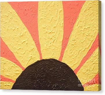 Sunflower Burst Canvas Print by Jeannie Atwater Jordan Allen