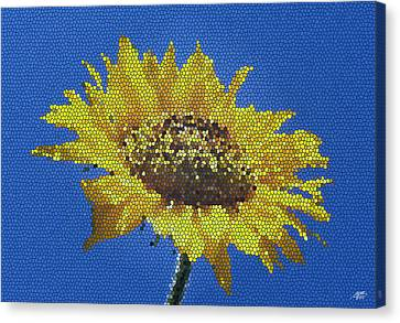 Sunflower Mosaic Canvas Print by Steve Huang