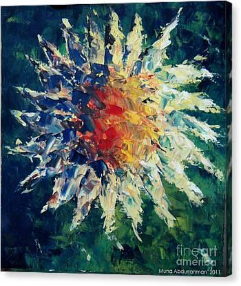 Sunflower Canvas Print by Muna Abdurrahman
