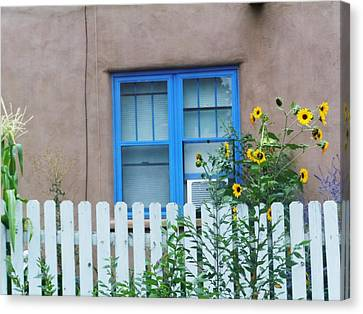 Sunflower Window  Canvas Print by Vicki Lomay