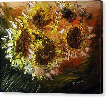 Sunflowers 3 Canvas Print by Raymond Doward