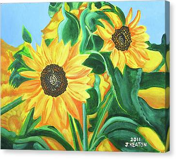 Sunflowers Canvas Print by John Keaton