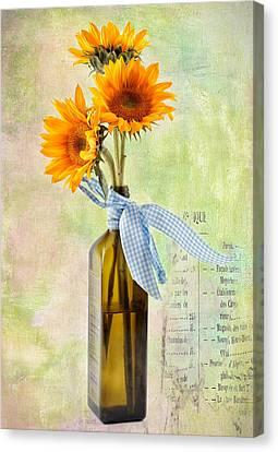 Sunflowers No 402 Canvas Print by James Bethanis