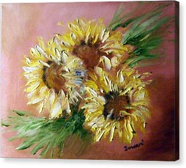 Sunflowers Canvas Print by Raymond Doward