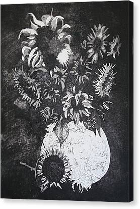 Sunflowers Canvas Print by Sonja Guard