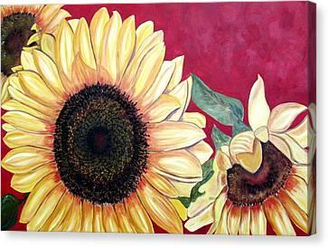 Sunflowers Three  Canvas Print by Maria Soto Robbins