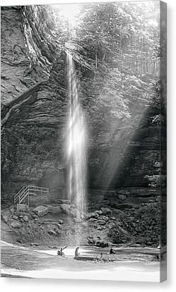 Canvas Print featuring the photograph Sunlight Falls by Mary Almond