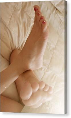 Sunlight Feet Canvas Print by Tos Photos