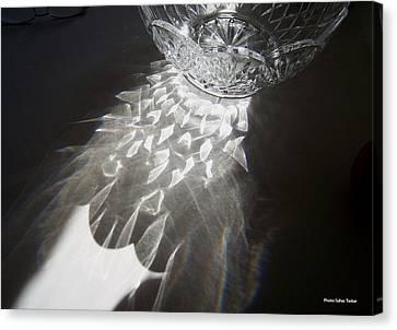 Sunlight On Crystal Bowl Canvas Print by Suhas Tavkar