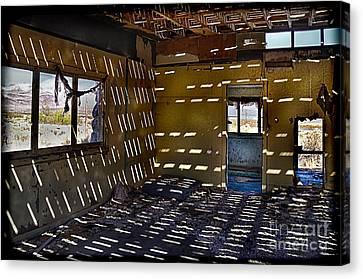 Sunlight Through Roof Slats Canvas Print