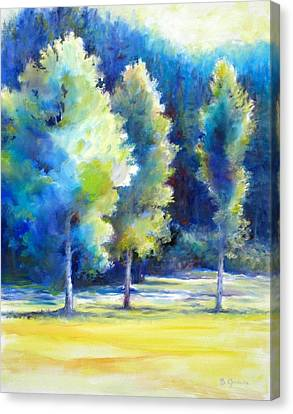 Sunlit Trees Canvas Print by Bonnie Goedecke