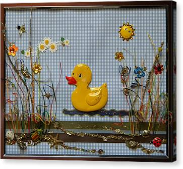 Sunny Duck Canvas Print by Gracies Creations