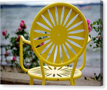 Union Terrace Canvas Print - Sunny Side Up by Linda Mishler